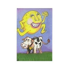 Moon Jumped Over Cow Rectangle Magnet