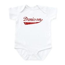 Denison (red vintage) Infant Bodysuit