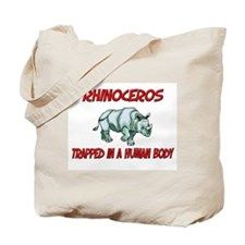 Rhinoceros trapped in a human body Tote Bag