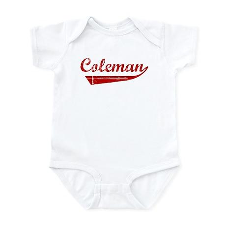 Coleman (red vintage) Infant Bodysuit