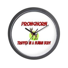 Pronghorn trapped in a human body Wall Clock