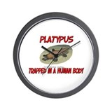 Platypus trapped in a human body Wall Clock