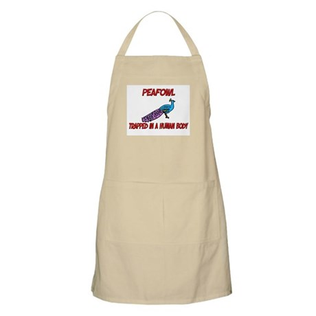 Peafowl trapped in a human body BBQ Apron