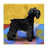 SCHNAUZER DOG BLACK Tile Coaster