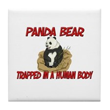 Panda Bear trapped in a human body Tile Coaster