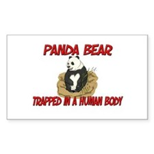 Panda Bear trapped in a human body Bumper Stickers