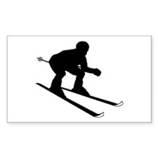 SKIER Rectangle Sticker 10 pk)