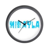 Mikayla Faded (Blue) Wall Clock