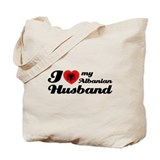 I love my Albanian Husband Tote Bag