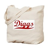 Diggs (red vintage) Tote Bag