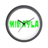 Mikayla Faded (Green) Wall Clock