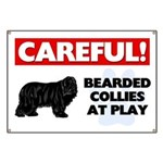 Careful Bearded Collies Banner