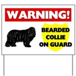 Warning Bearded Collie Yard Sign