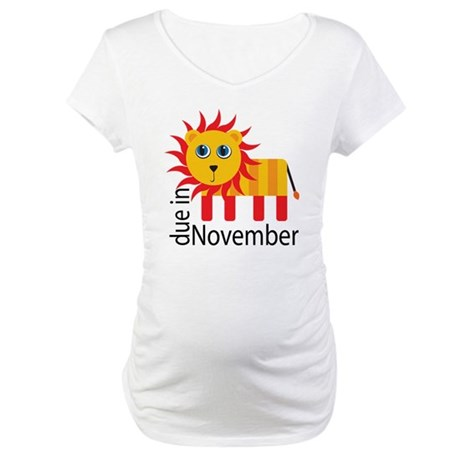 Due In November Maternity T-Shirt