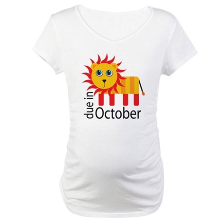 October Baby Announcement Maternity T-Shirt