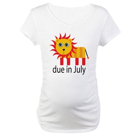 Coming In July Pregnancy Announcement T-Shirt