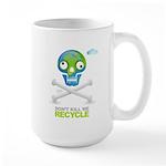 Don't kill me. Recycle Earth Large Mug