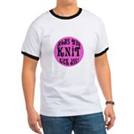 Moms Who Knit Kick Ass Ringer T