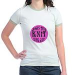 Moms Who Knit Kick Ass Jr. Ringer T-Shirt