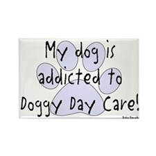 My dog is addicted Rectangle Magnet (10 pack)