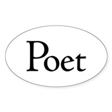 Poet Oval Decal