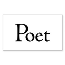 Poet Rectangle Decal