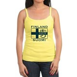 Finland Suomi Flag Ladies Top
