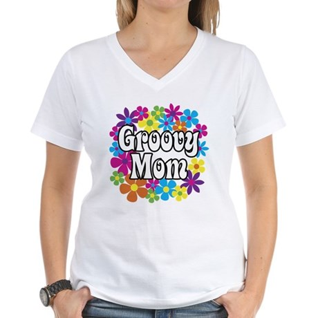Groovy Mom Women's V-Neck T-Shirt