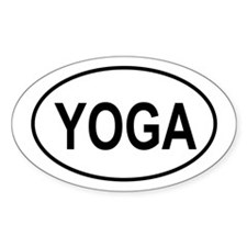 European Oval Yoga Oval Decal