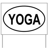European Oval Yoga Yard Sign