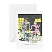 NAUGHTY CARTOON Greeting Card