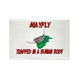 Mayfly trapped in a human body Rectangle Magnet (1