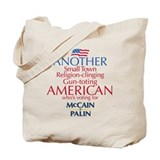 Small Town American for McCain Palin Tote Bag