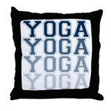 Yoga Blue Collegiate Letters Throw Pillow