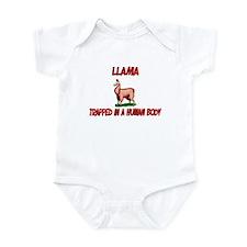 Llama trapped in a human body Infant Bodysuit