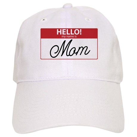 Hello My Name is Mom Tag Cap