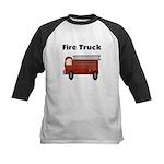 Fire Truck Kids Baseball Jersey
