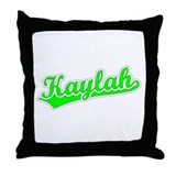 Retro Kaylah (Green) Throw Pillow