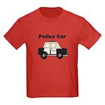 Police Car Kids Dark T-Shirt