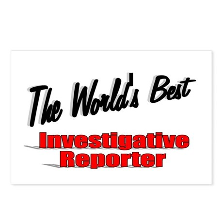 """The World's Best Investigative Reporter"" Postcard"