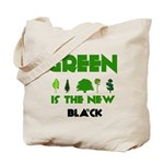 Green is the New Black Canvas Reusable Tote Bag