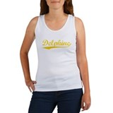Vintage Delphine (Orange) Women's Tank Top