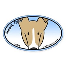 Anime Sable Smooth Collie Oval Decal