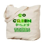 Go Green Texas Reusable Canvas Tote Bag