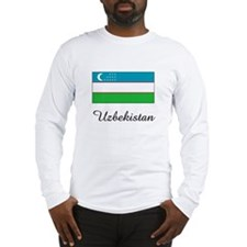 Uzbekistan Flag Long Sleeve T-Shirt