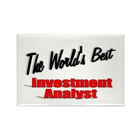 """The World's Best Inventment Analyst"" Rectangle Ma"