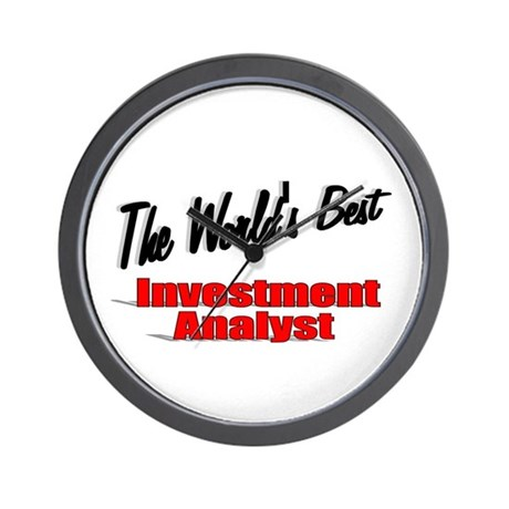 """The World's Best Inventment Analyst"" Wall Clock"