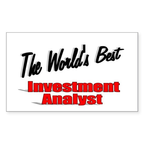 """The World's Best Inventment Analyst"" Sticker (Rec"