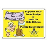 Masonic Pancake Breakfast Banner