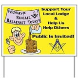 Masonic Pancake Breakfast Yard Sign